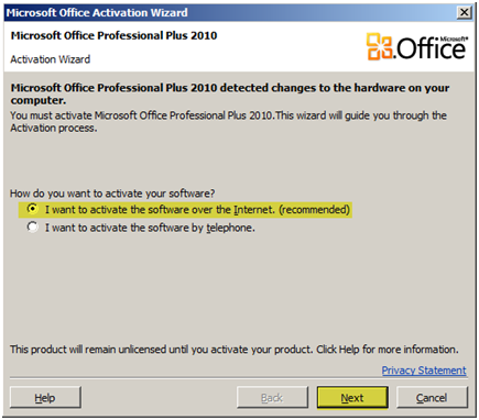 microsoft office home and student 2007 bypass activation