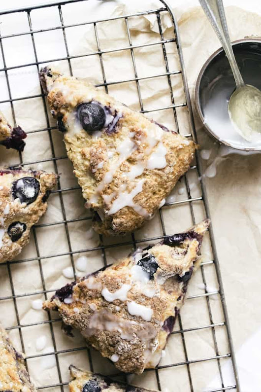 Grab and Go Blueberry Buttermilk Breakfast Scones • Salted Mint