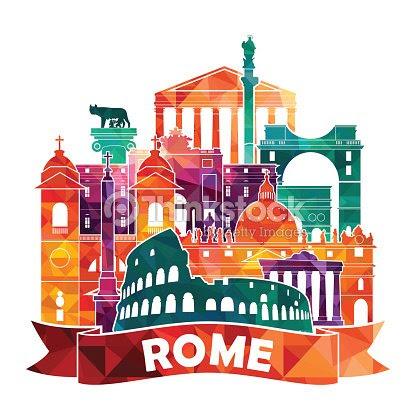 ローマの街並みを一望できますベクトルイラスト ベクトルアート Thinkstock