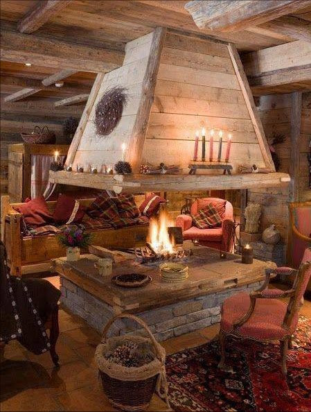 Open Fireplace In The Middle Of The Room Cozy Homes Life