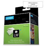 DYMO 30320 LABELS - ADDRESS LABELS - WHITE - 1.1 IN X 3.5 IN