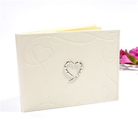 Wedding Guest Book with Swirling Hearts Design   The Gift