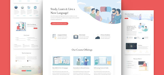 Get a FREE Divi Language School Layout Pack
