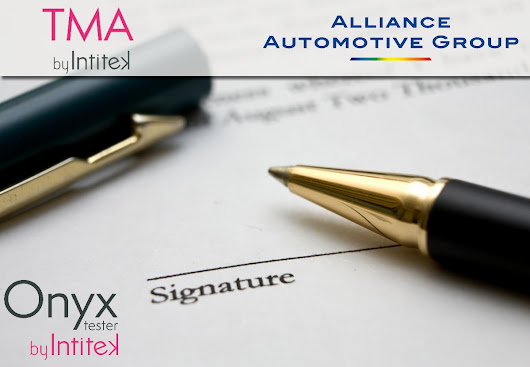 A new partnership agreement signed between INTITEK-TMA and Alliance Automotive Groupe