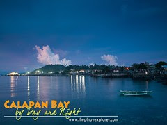 Calapan Bay by day and night