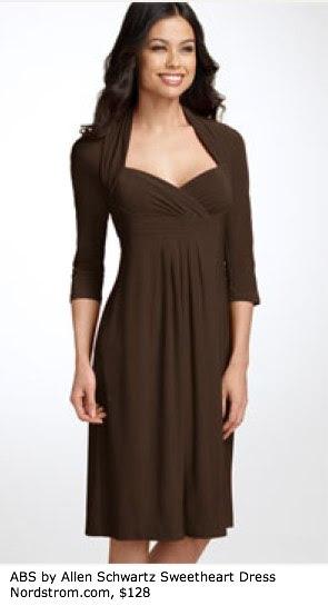 ABS by Allen Schwartz Sweetheart Jersey Dress - Sleeves - Nordstrom
