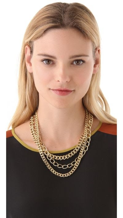 Adia Kibur 3 Layer Chain Necklace
