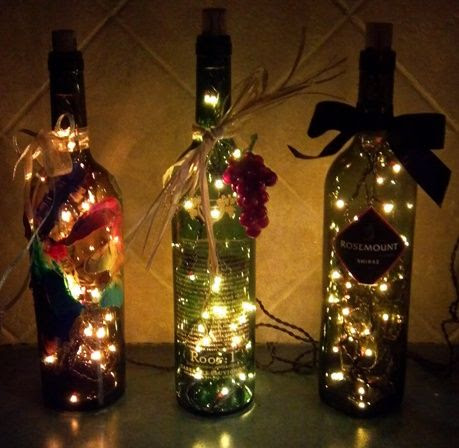 These are so cute for the holidays.  A great kitchen or bar decoration idea.