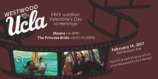 Valentine's Day Free Outdoor Double Feature Movies in Westwood!