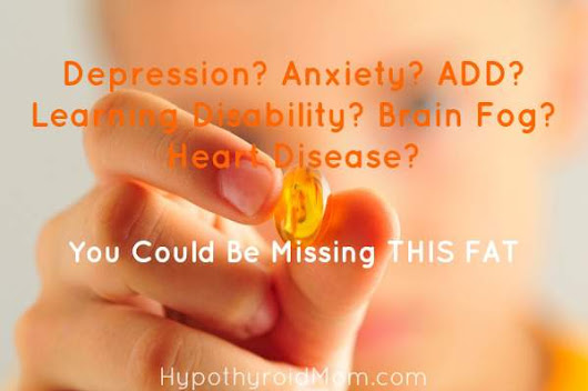 Depression? Anxiety? ADD? Learning Disability? Brain Fog? Heart Disease? You Could Be Missing This Fat | Hypothyroid Mom