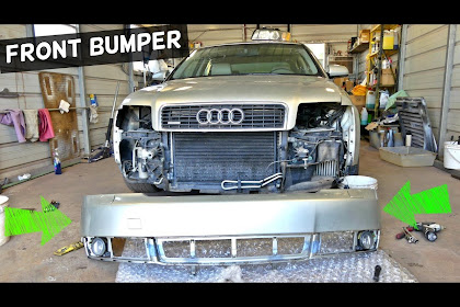 2004 Audi A4 Front Bumper Removal