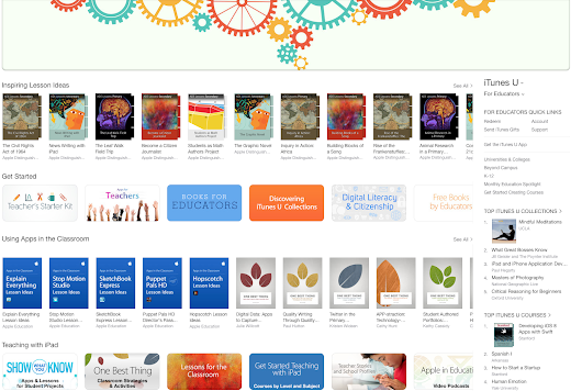 "iTunes Store – ""For Educators"" Section 