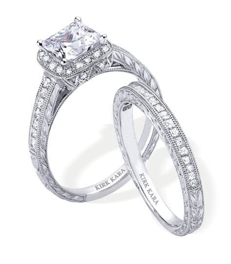 Dazzling platinum and diamond engagement ring and wedding