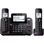 Panasonic KX-TG9552 Expandable Phone System with 2 Handsets - Black