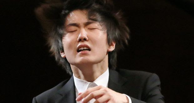 South Korean pianist Seong-Jin Cho performing in this year's International Fryderyk Chopin Piano Competition in Warsaw, from which he emerged the winner. Photograph: Radek Pietruszka/ EPA