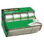 Scotch 4105 Magic Tape, 3/4 x 300 in., PK4