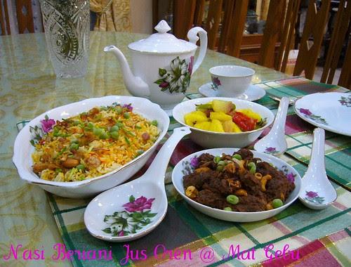 Nasi Minyak Jus Oren