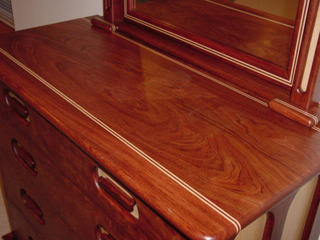 Comments: This bedroom set is made out of regular bubinga. The drawer