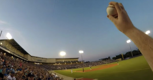 Baseball fan catches foul ball bare-handed while wearing a GoPro