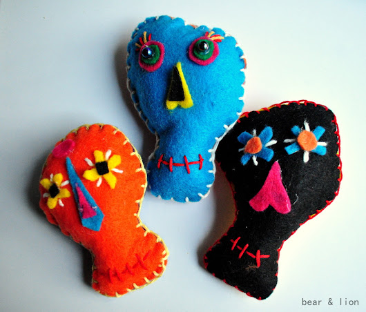 day of the dead felt craft.