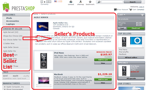 agile seller products product - top seller block - seller propducts page