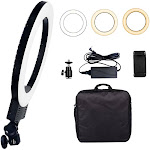 """Ktaxon 12"""" LED Ring Light Dimmable 6000K Fill Lamp Photography Phone Video Live Black"""