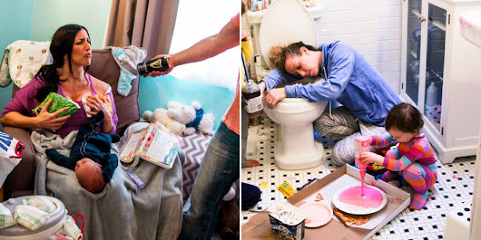 15 Hilarious Photos That Show The Reality Of Being A New Mom