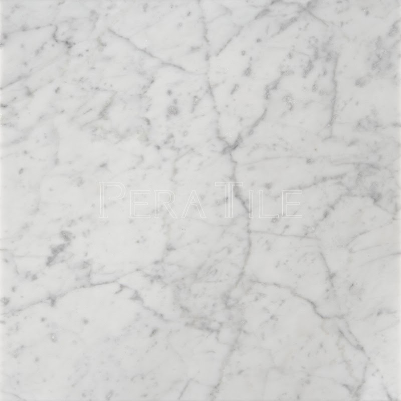 Bianco Carrara 18x18 Honed Marble Tile Pera Tile