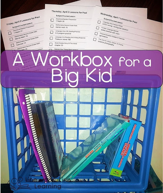 A Workbox for a Big Kid (Workbox Wednesday) – Line upon Line Learning