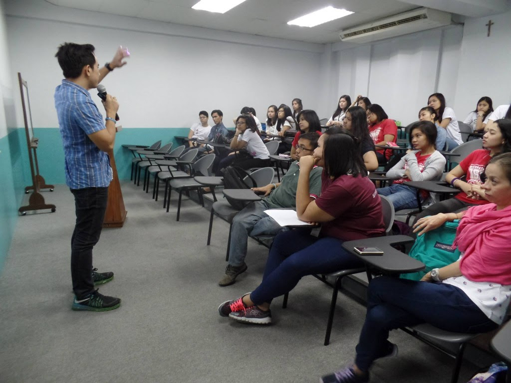 The VoiceMaster Teaching Voice Acting in St Paul University Manila
