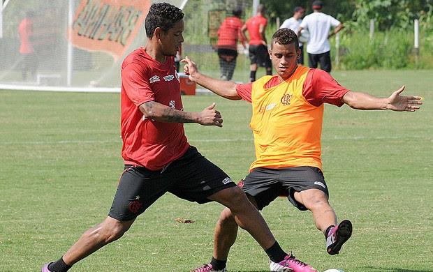 Rodolfo no treino do Flamengo (Foto: Alexandre Vidal / Fla Imagem)