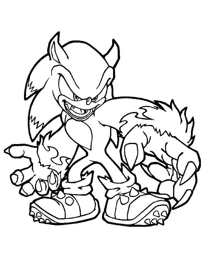 Free Sonic Coloring Pages to Print