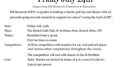 If you are interested in submitting a team or sponsoring a hole and would like further information please contact Abi…#Bristol #Golf #MS #charity #… | Pinterest