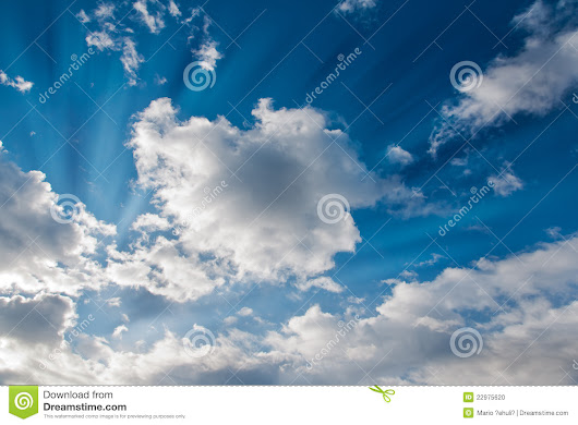 Sun Rays And Clouds Stock Photo - Image: 22975620