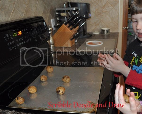 Learn through play while playing tea party and making cookies
