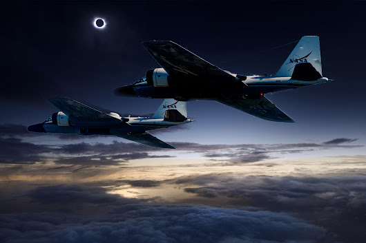 Chasing the Total Solar Eclipse from NASA's WB-57F Jets