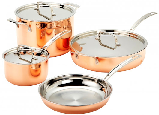 Cuisinart Copper Tri-Ply Stainless Steel Cookware Set - ReviewSales.com