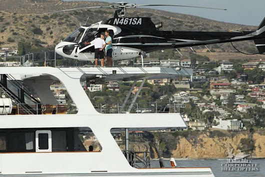 Helicopter date & yacht landing for ABC's The Bachelor Season 21