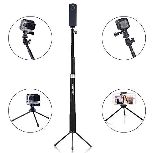 MIBOTE 自由伸縮自撮り棒 デジカメ/スポーツカメラ/GoPro/RICOH/スマートフォン使用可能 伸縮自在