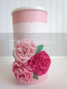 Crepe Paper Flowers Tutorial and Girls Valentine Boxes