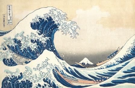 Le Grande Vague de Kanagawa par Hokusai