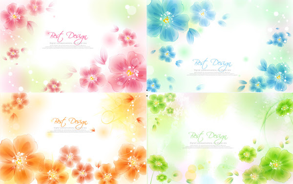 Hazy Flower Background Vector Free Download