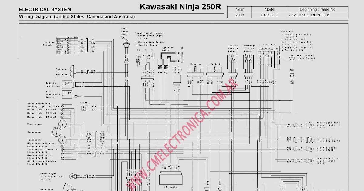 2007 Kawasaki Ninja 250 Wiring Diagram