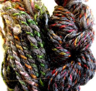 Silk and wool yarns