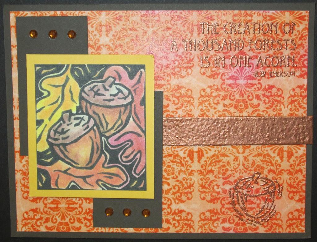 Inky Antics 2603J Acorn Panel