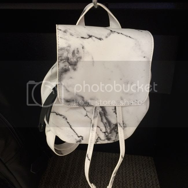 Eddie Borgo for Target white marble backpack