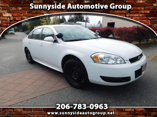 Used 2012 Chevrolet Impala Police Cruiser for Sale in Seattle WA 98133 Sunnyside Automotive Group