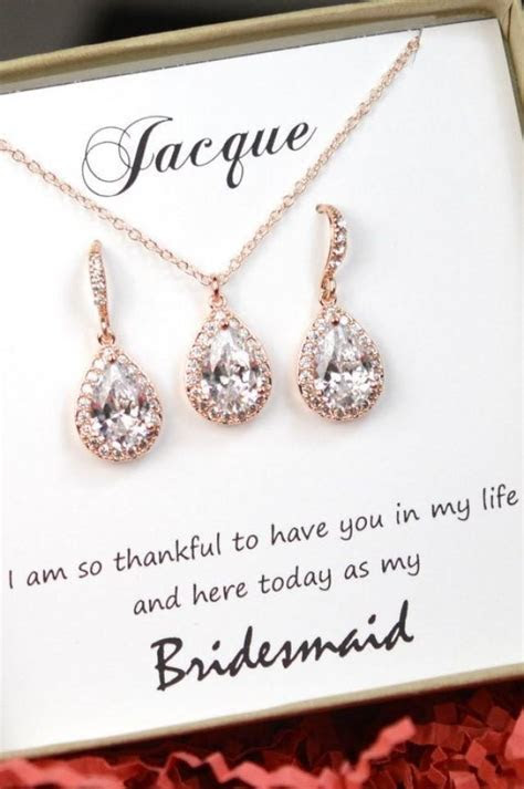 Personalized Bridesmaid Gift   Rose Gold Bridesmaid