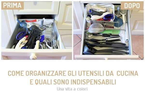 Come organizzare gli utensili da cucina ~ Gestione della Casa