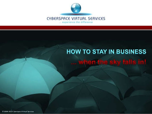 How to Stay in Business ...When the Sky Falls In